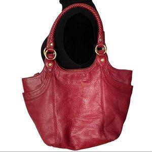 Red The Sak shoulder bag with braided handles